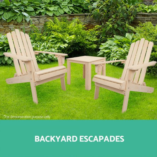 Adirondack chairs and table FF-BEACH-SET-3NW-00