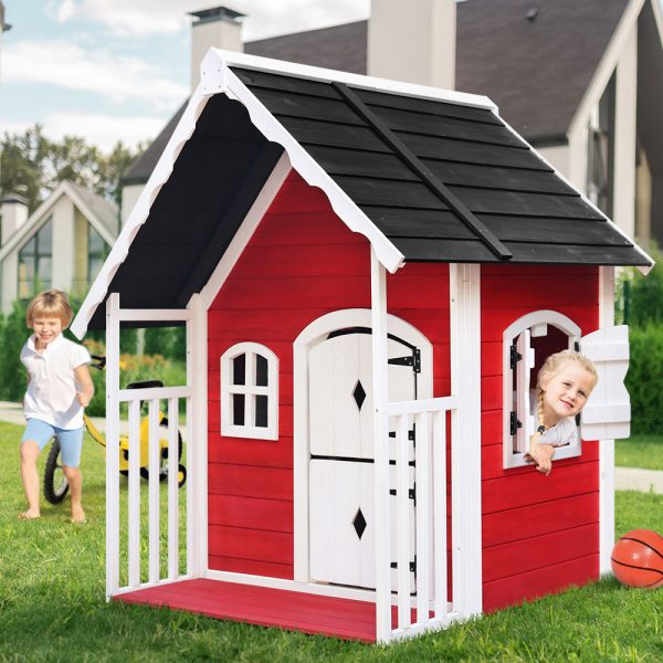 Kids Cubby House wooden playhouse