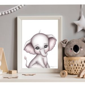 Elephant nursery print