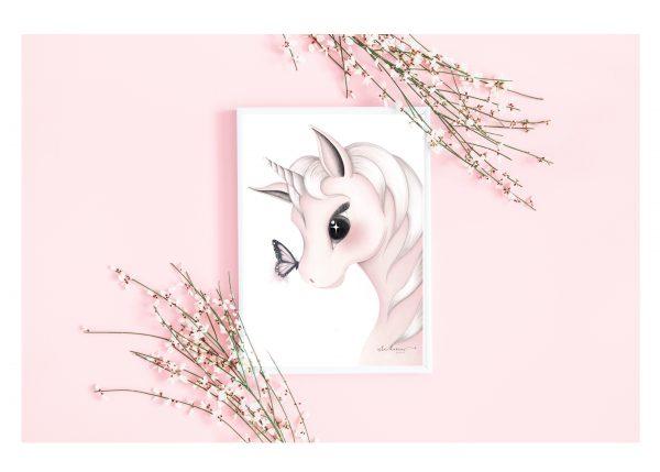 girls Mila nursery print