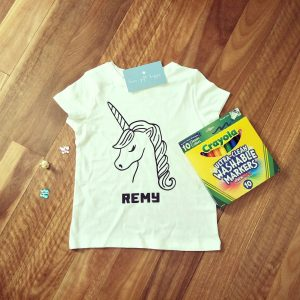 personalised colouring in shirt