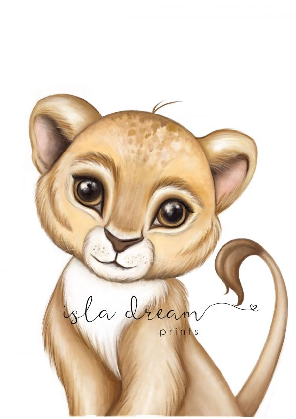 lion wall art for the nursery