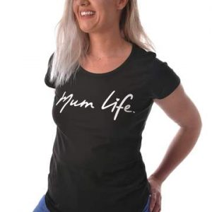 mum life black shirt